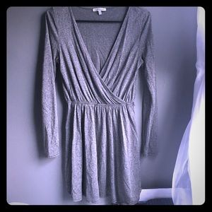 Grey Charlotte Russe long sleeve ballerina dress